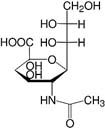 Structure N-Acetylneuraminic acid_research grade