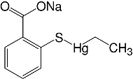 Structure Ethylmercury thiosalicylic acid·Na-salt_research grade, Ph. Eur., USP