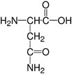 Structure L-Asparagine monohydrate_research grade, Ph. Eur.