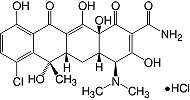 Structure Chlortetracycline·HCl_research grade, Ph. Eur.