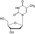 Structure 2'-Deoxythymidine_analytical grade