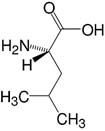 Structure L-Leucine_research grade, Ph. Eur.