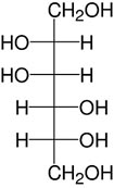 Structure D-Mannitol_analytical grade, Ph. Eur.