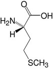 Structure L-Methionine_research grade, Ph. Eur.