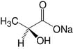 Structure L-Lactic acid·Na-salt_cryst. research grade