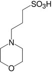 Structure Morpholinopropane sulfonic acid_analytical grade