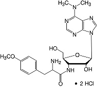 Structure Puromycin·2HCl_research grade