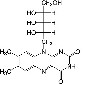 Structure Riboflavin_research grade