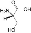 Structure L-Serine_research grade, Ph. Eur.
