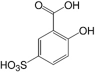 Structure 5-Sulfosalicylic acid_analytical grade