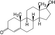 Structure Testosterone_research grade, Ph. Eur.