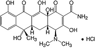 Structure Tetracycline·HCl_research grade