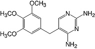 Structure Trimethoprim_research grade, Ph. Eur.