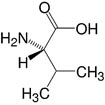 Structure L-Valine_research grade